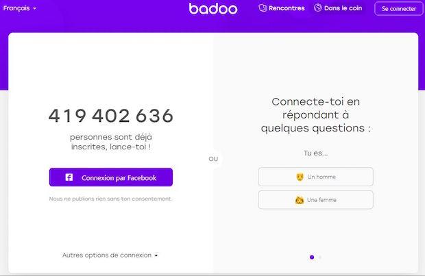 Vous inscrire sur Badoo.