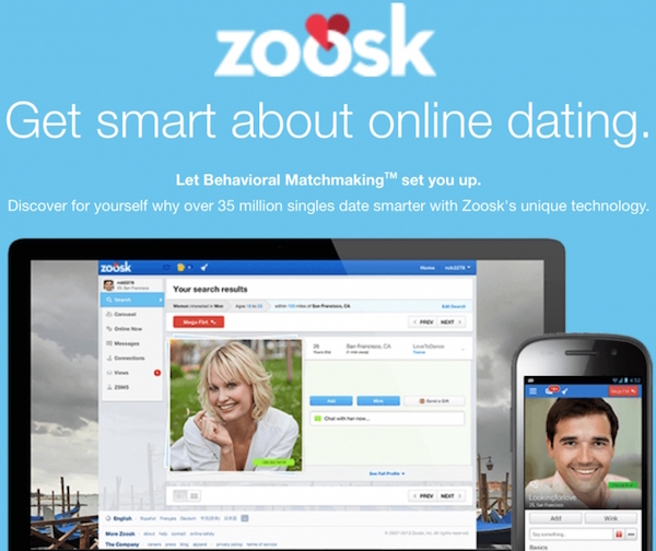 Découvrir Zoosk.